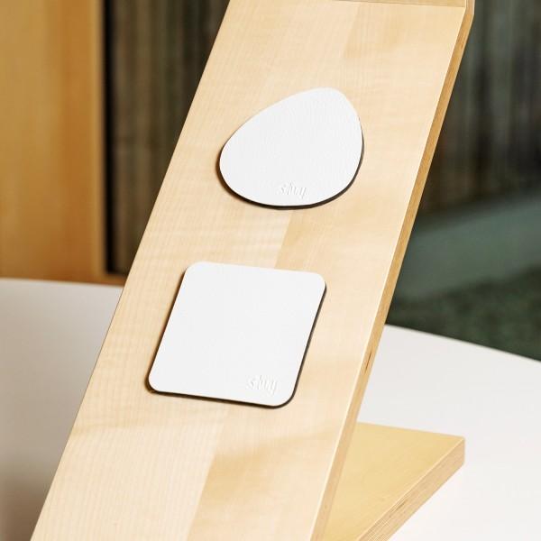 Metall-Nano-Gel-Pads (freie Form) im Leder-Look WHITE