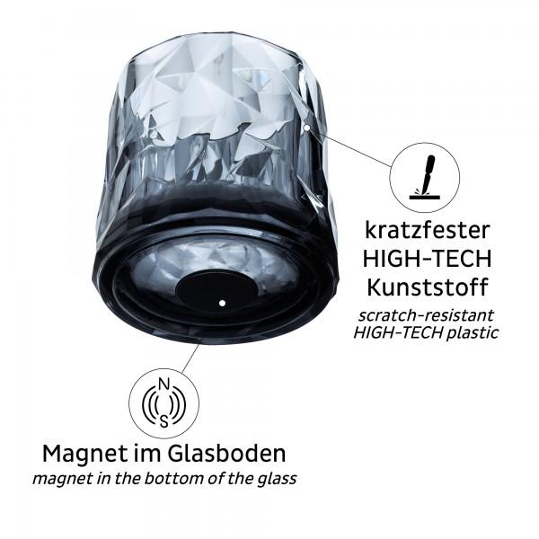 Magnet-Kunststoffgläser TUMBLER (6er-Set) GREY