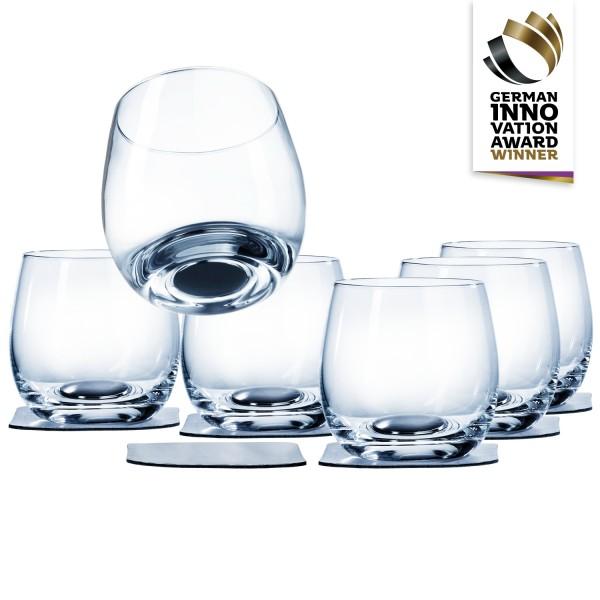 Magnet-Kristallglas Whisky 6er Vorteils-Box