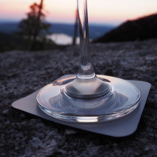 Metall-Nano-Gel-Untersetzer GREY für Magnetgläser