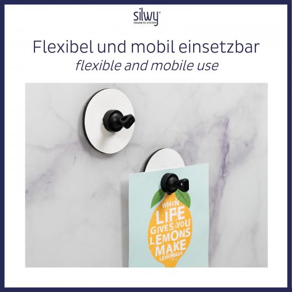 Magnet-Pins FLEX (4er-Set) inkl. Pads WHITE