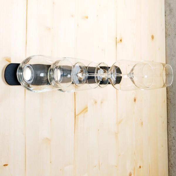 Kristallglas-Vorteils-Set + Metall-Leiste 50 cm BLACK