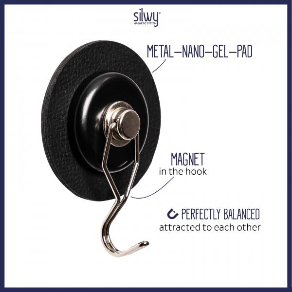 Magnet-Haken THE ONE inkl. Pad BLACK