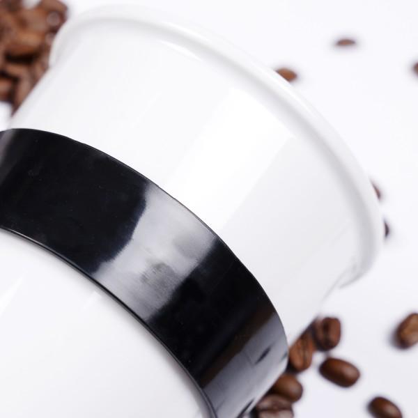 Porzellan TO-GO-CUP inkl. Untersetzer WHITE