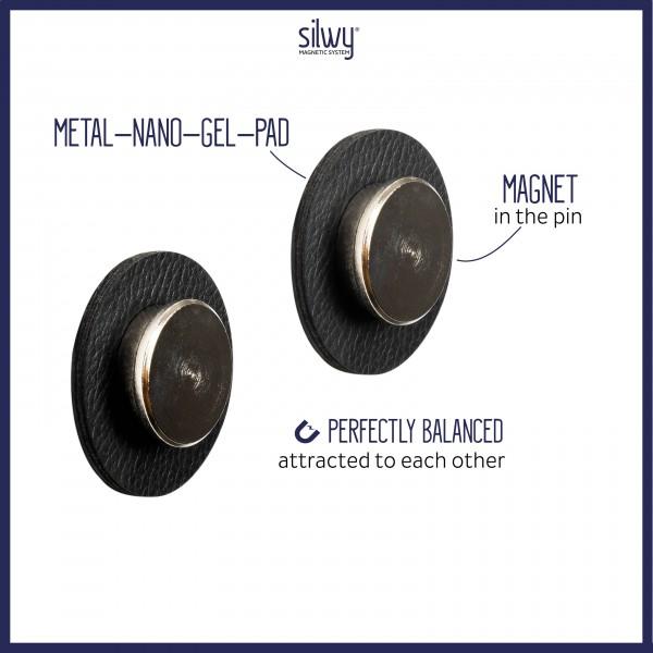Magnet-Pins SMART (2er-Set) inkl. Pads BLACK