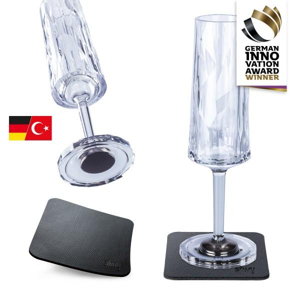 Magnet-Kunststoffgläser SEKT (2er Set) Hightech-Copy
