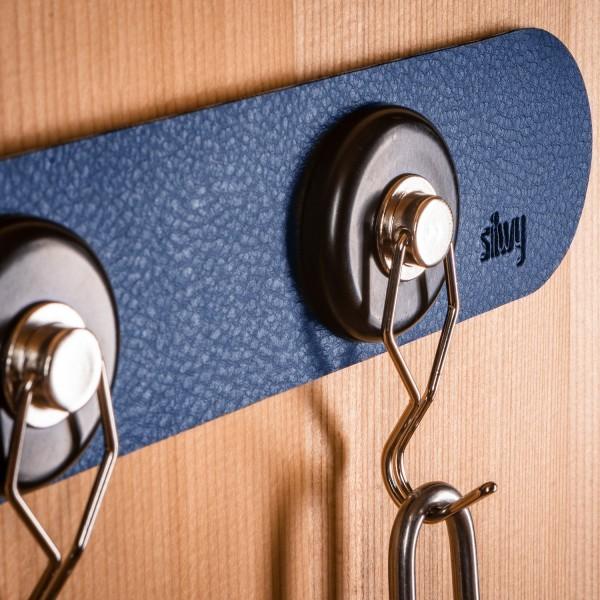 Metall-Leiste 25 cm für Gläser / Pins / Haken (BLUE)