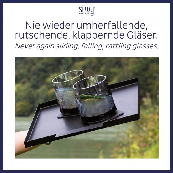 Magnet-Kunststoffgläser TUMBLER (6er-Set) Hightech - grey