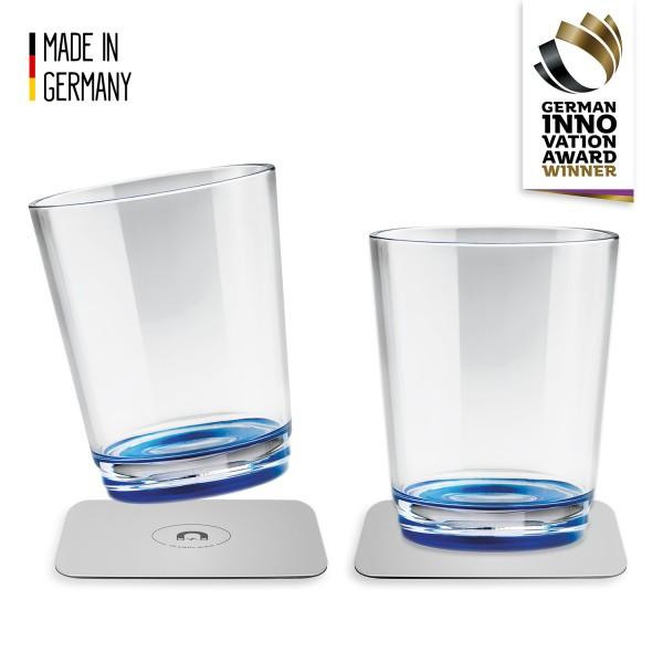 Magnet-Trinkbecher (2er-Set), Lui Blue