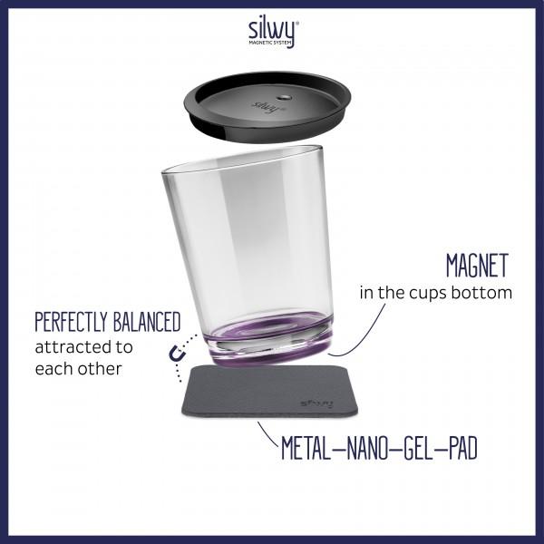 Magnet-Trinkbecher Triple, Very Berry