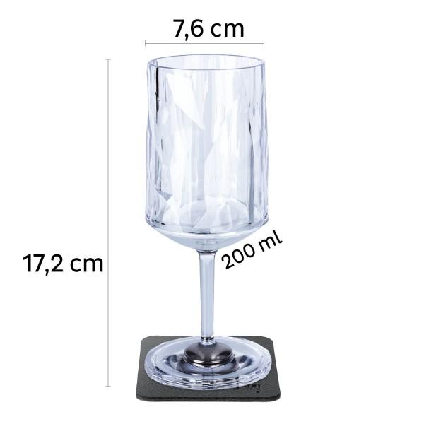 Magnet-Kunststoffgläser WEIN (6er-Set) 0,2l