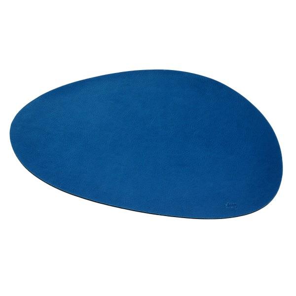 Metall-Nano-Gel-Platzset groß im Leder-Look BLUE