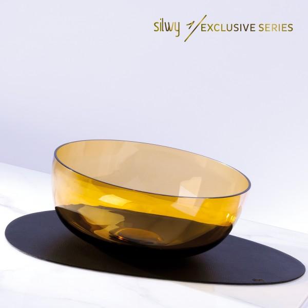 silwy 1/EXKLUSIV Glas-Magnetschale in BERNSTEIN