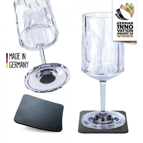 Magnet-Kunststoffgläser WEIN (2er Set) Hightech