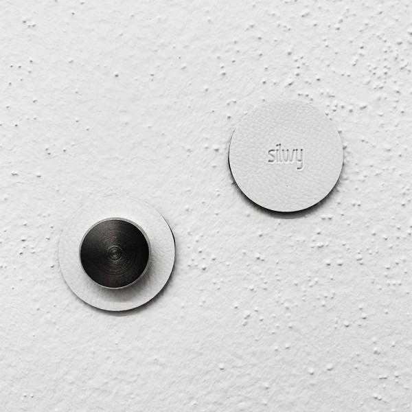 Metall-Nano-Gel-Pads 5 cm WHITE, 4er-Set