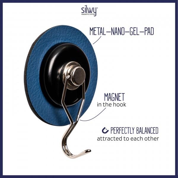 Magnet-Haken THE ONE inkl. Pad BLUE