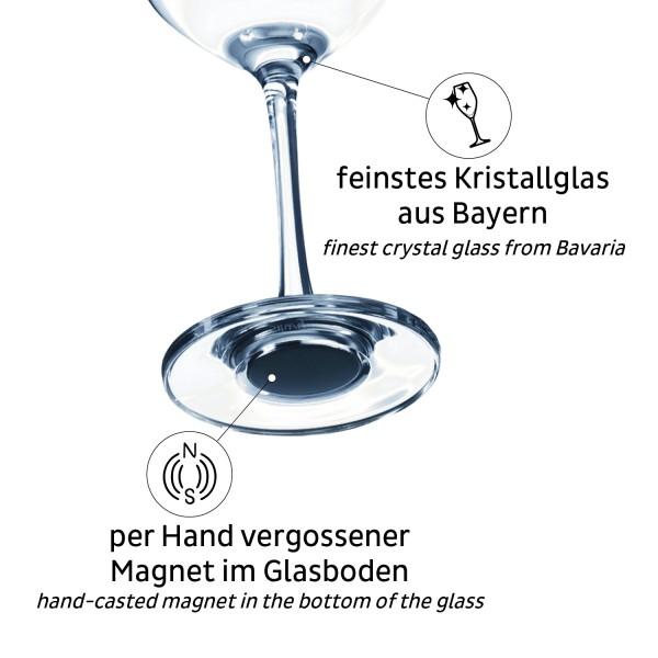 Magnet-Kristallgläser WEIN (6er-Set)
