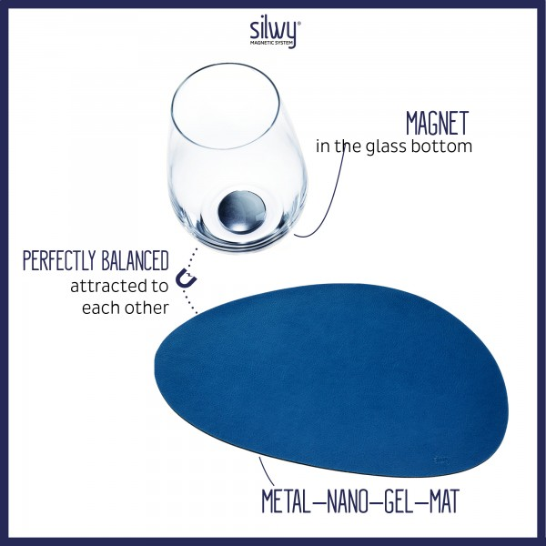 Metall-Nano-Gel-Platzset mittelgroß BLUE