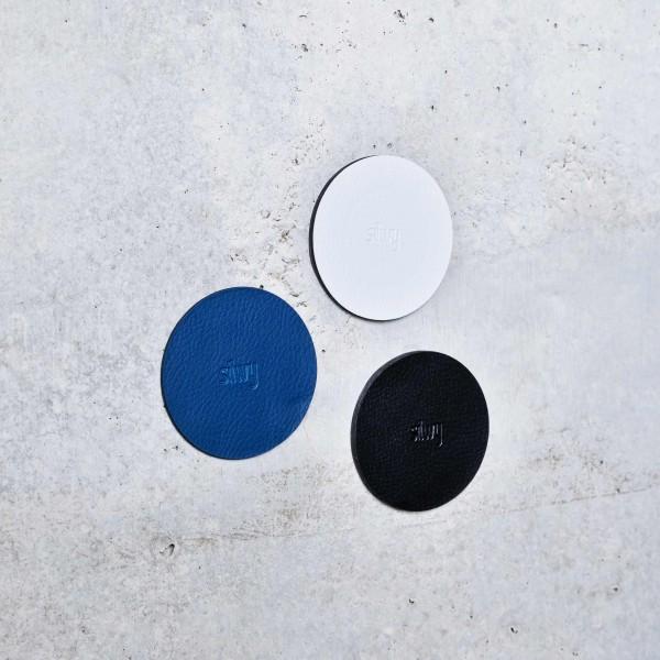 "Magnet-Haken ""THE ONE"" inkl. Metall-Nano-Gel-Pad WHITE"