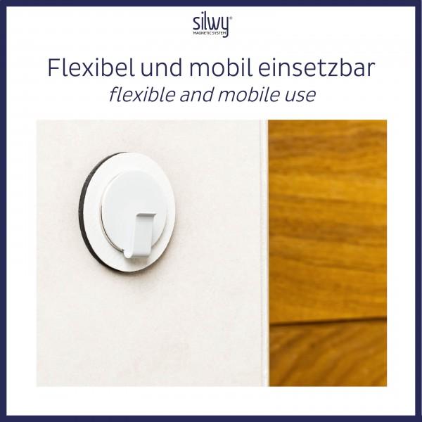 Magnet-Haken CLEVER WHITE inkl. Pad WHITE