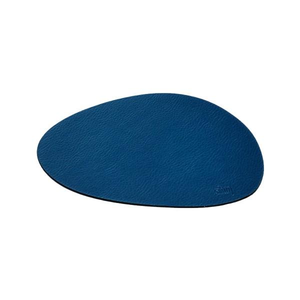 Metall-Nano-Gel-Platzset mittelgroß im Leder-Look BLUE