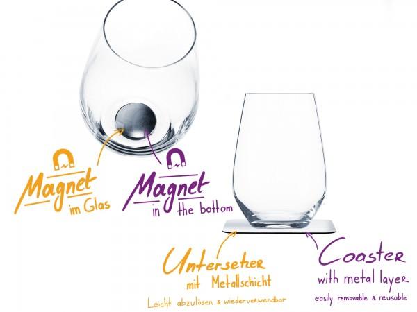 Magnet-Kristallglas Longdrink Vorteils-Box