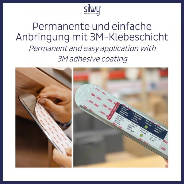 Metall-Leiste 50 cm WHITE für Magnetgläser
