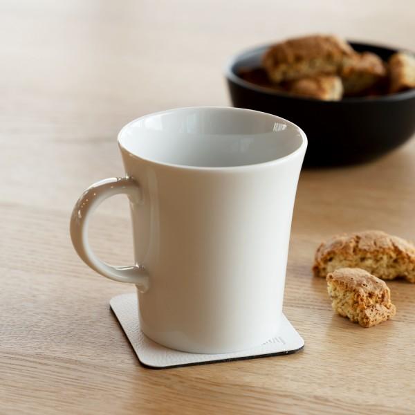 Porzellan Magnet-Henkel-Tassen inkl. Metall-Nano-Gel-Pads WHITE