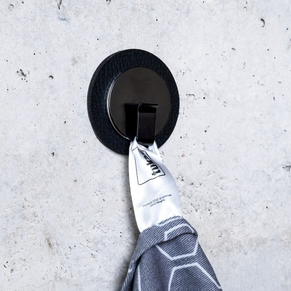 "Magnet-Haken ""CLEVER"" BLACK inkl. Metall-Nano-Gel-Pad BLACK"