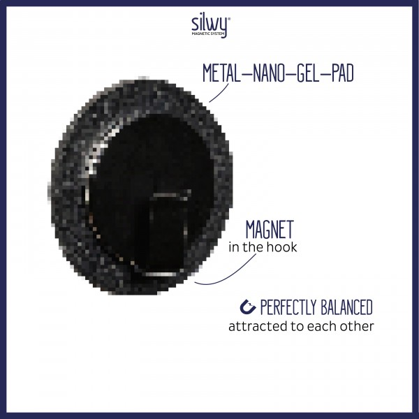 Magnet-Haken CLEVER BLACK