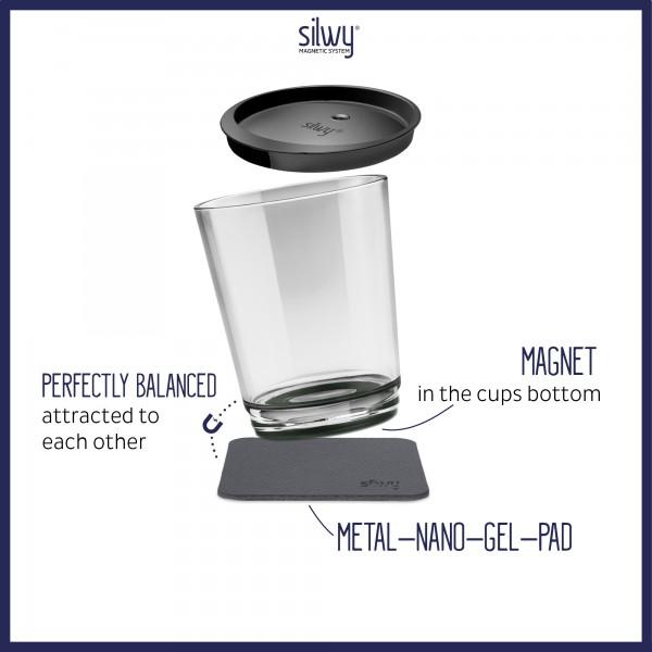 Magnet-Trinkbecher (2er-Set) PEARL GREY