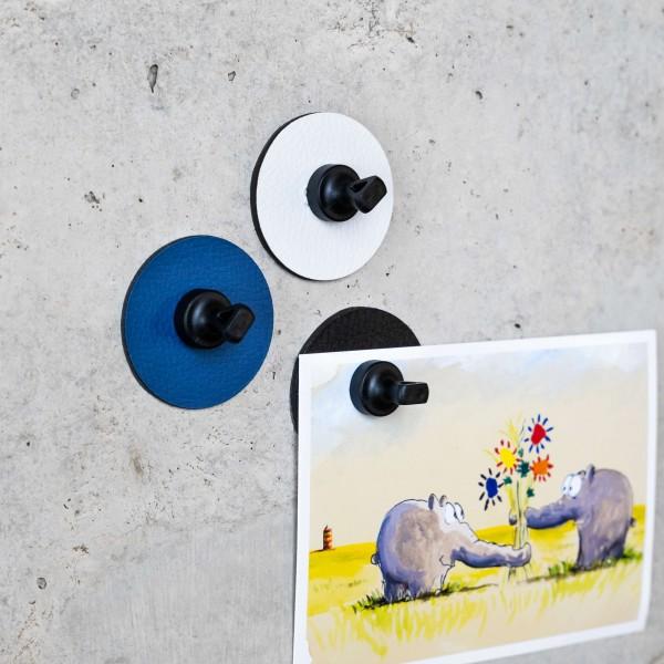 "Magnet-Pins ""FLEX"" inkl. Metall-Nano-Gel-Pads WHITE"