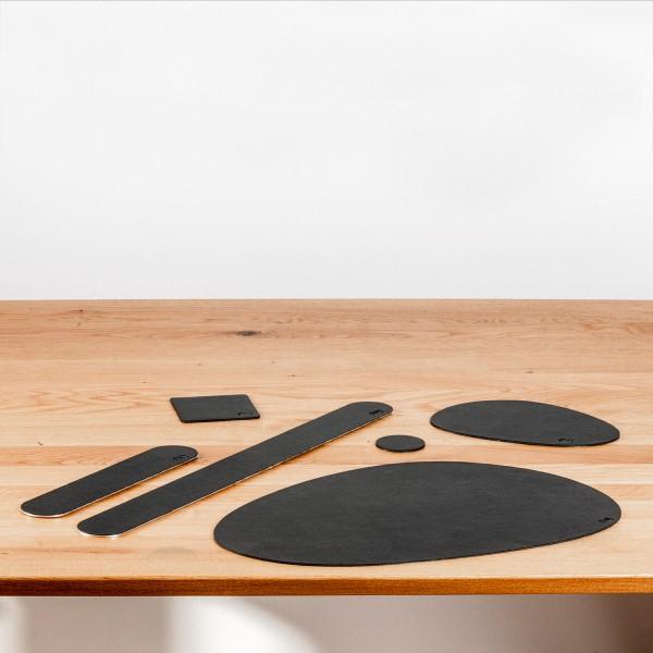 Metall-Nano-Gel-Pads (freie Form) im Leder-Look BLACK