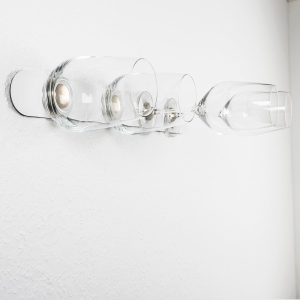 Kristallglas-Vorteils-Set + Metall-Leiste 50 cm WHITE