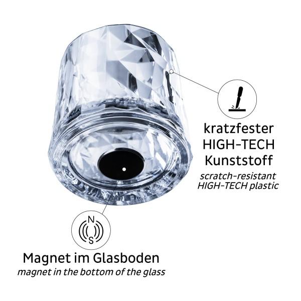 Magnet-Kunststoffgläser TUMBLER (6er-Set)