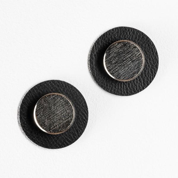 "Magnet-Pins ""SMART"" inkl. Metall-Nano-Gel-Pads ""BLACK"""