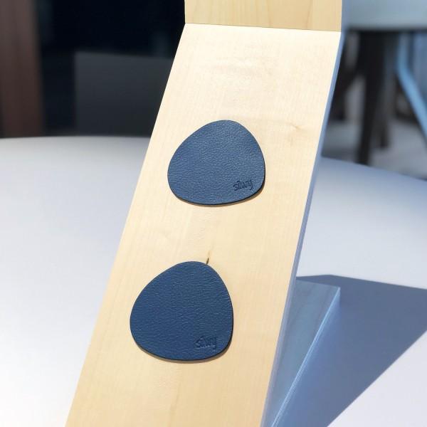Metall-Nano-Gel-Pads (freie Form) im Leder-Look BLUE