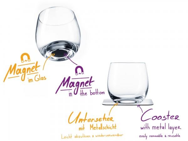 Magnet-Kristallgläser WHISKY