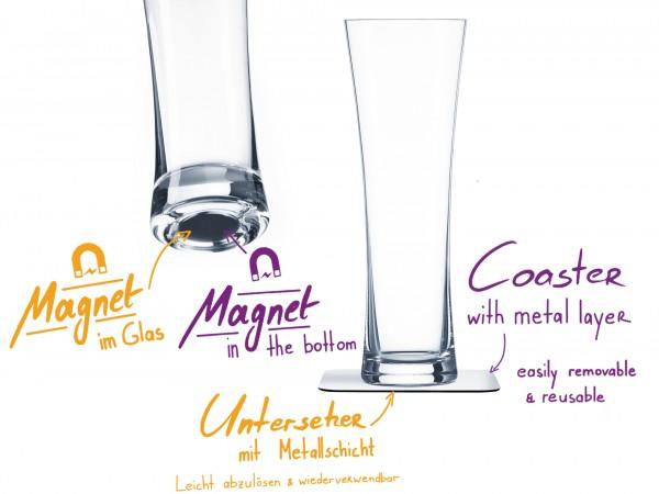 Magnet-Kristallglas Bier Vorteils-Box