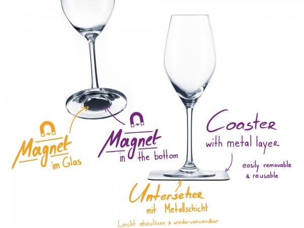 Magnet-Kristallgläser CHAMPAGNER
