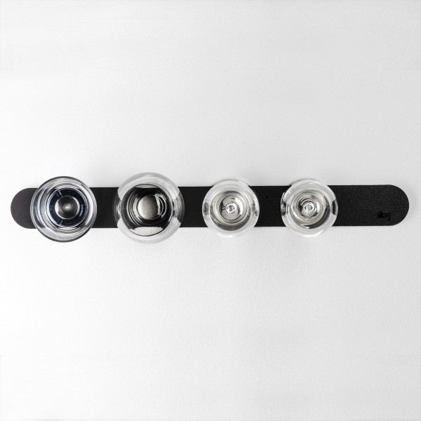 Metall-Leiste 50 cm für Gläser / Pins / Haken (BLACK)
