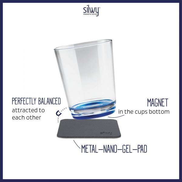 Magnet-Trinkbecher (2er-Set) LUI BLUE