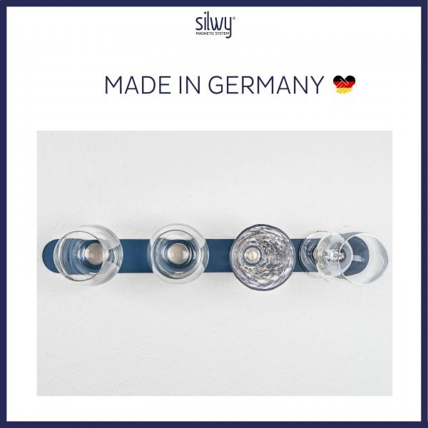 Metall-Leiste 50 cm BLUE für Magnetgläser
