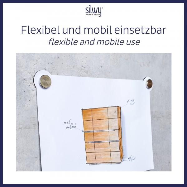 Magnet-Pins SMART (2er-Set) inkl. Pads WHITE