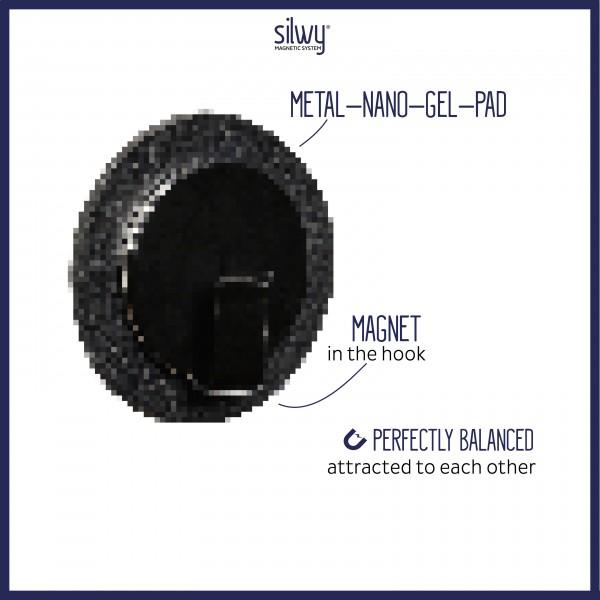 Magnet-Haken CLEVER BLACK inkl. Pad BLACK