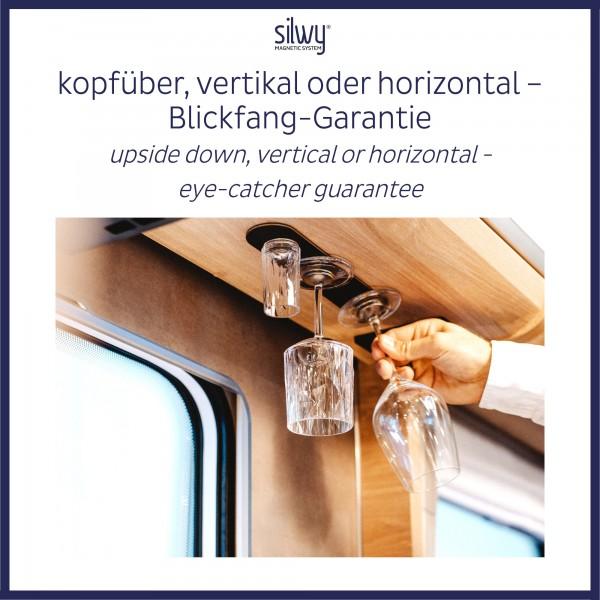 Metall-Leiste 25 cm für Gläser / Pins / Haken (BLACK)