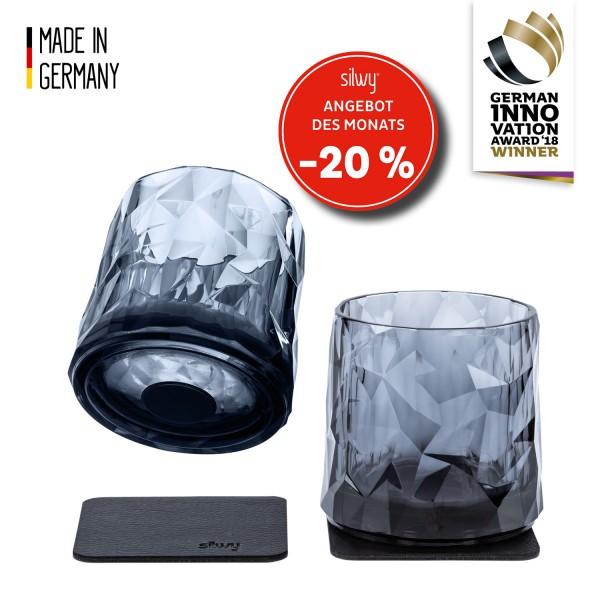 Magnet-Kunststoffgläser TUMBLER (2er-Set) Hightech - grey