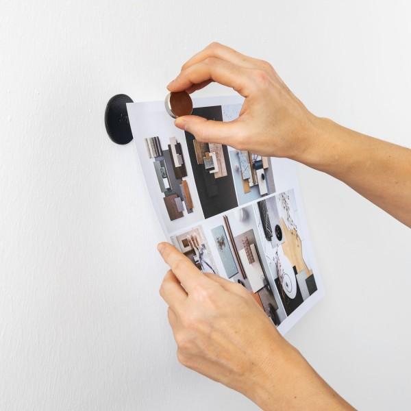 "Magnet-Pins ""SMART"" inkl. Metall-Nano-Gel-Pads BLACK"