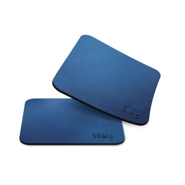Metall-Nano-Gel-Untersetzer (eckig) BLUE für Magnetgläser