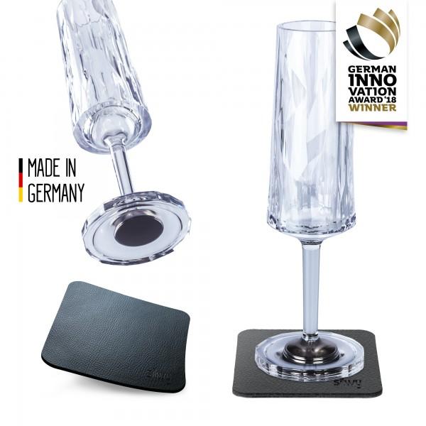 Magnet-Kunststoffgläser SEKT (2er Set) Hightech